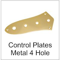 Control Plate for Bass or Electric Guitar 4 hole
