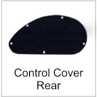 Rear Control Cavity Cover Electric and Bass Guitar
