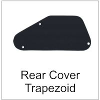 Rear Guitar Trim Cover for Control Cavity Trapezoid