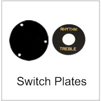 Switch and Trim Cover Plates for Electric Guitars