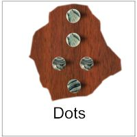 Inlays Dots in various material and sizes for Fretwork