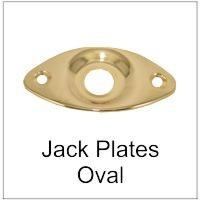 Jack Plate for Guitars Oval Football