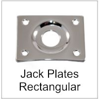 Electric Bass and Guitar Rectangular Jack Plate