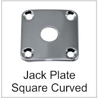Guitar Jack Plate Curved to fit Body Square