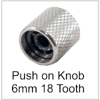 Push on knob 6mm 18 tooth spline