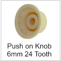 Push on knob 6mm shaft 24 tooth spline