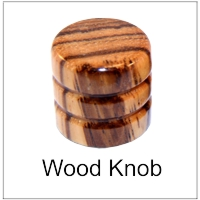 Wood control knobs for guitars and bass electric